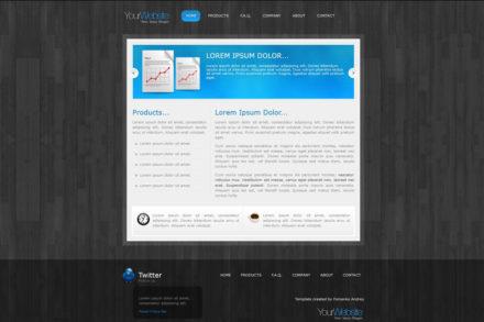 Учебный шаблон (самостоятельная работа) для курсов HTML, CSS