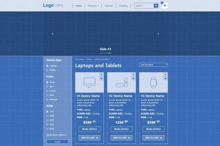 Учебный шаблон интернет-магазина, Bootstrap 4